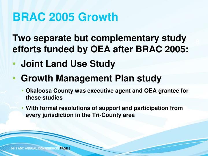 BRAC 2005 Growth