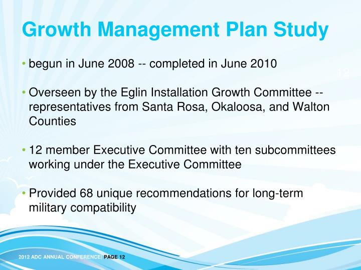 Growth Management Plan Study