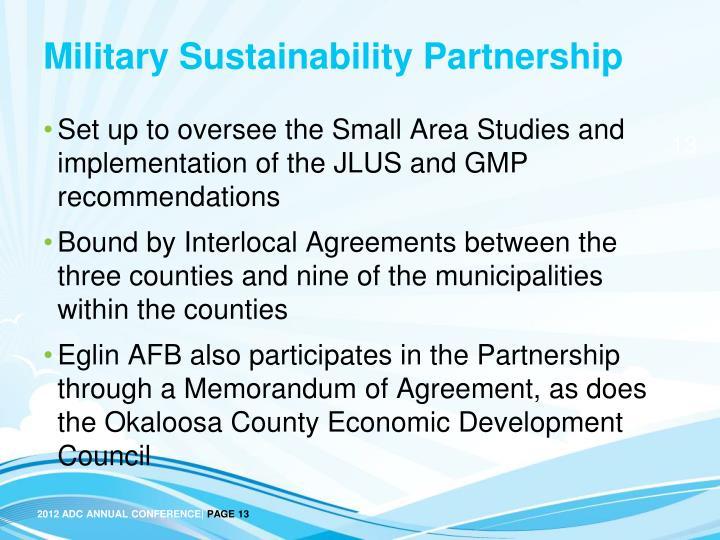 Military Sustainability Partnership