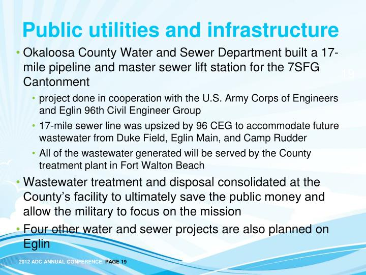 Public utilities and infrastructure