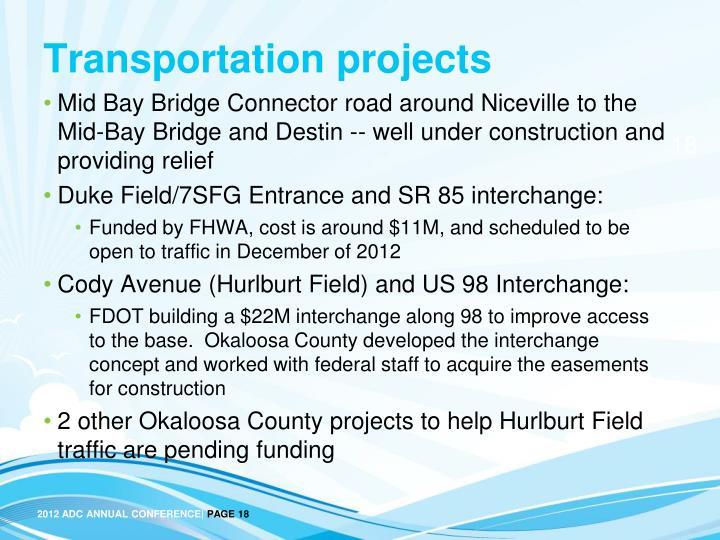 Transportation projects