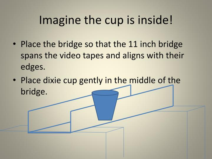Imagine the cup is inside!