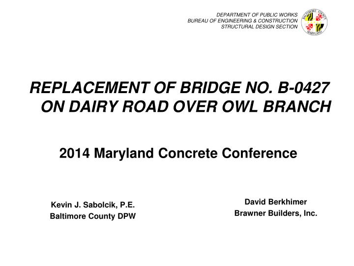 department of public works bureau of engineering construction structural design section n.