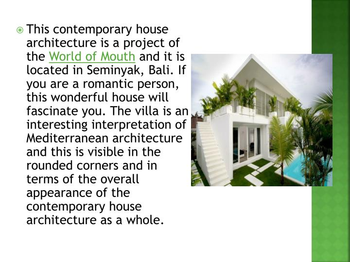 This contemporary house architecture is a project of the