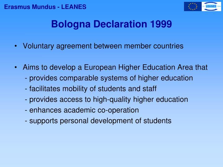 Bologna declaration 1999