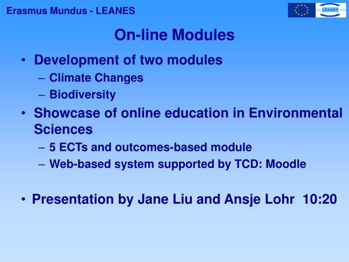 On-line Modules