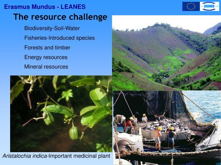 The resource challenge