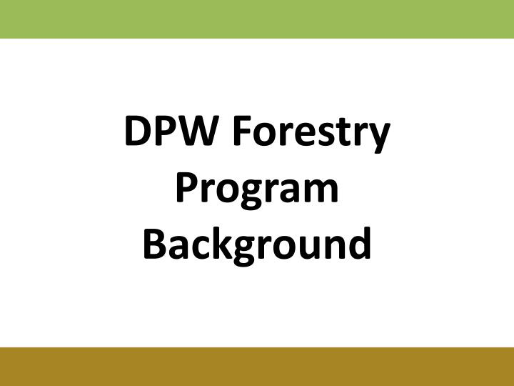 DPW Forestry