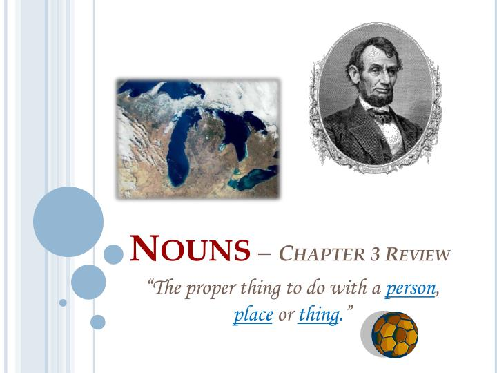 nouns chapter 3 review n.