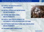 geotechnical monitoring instrumentation