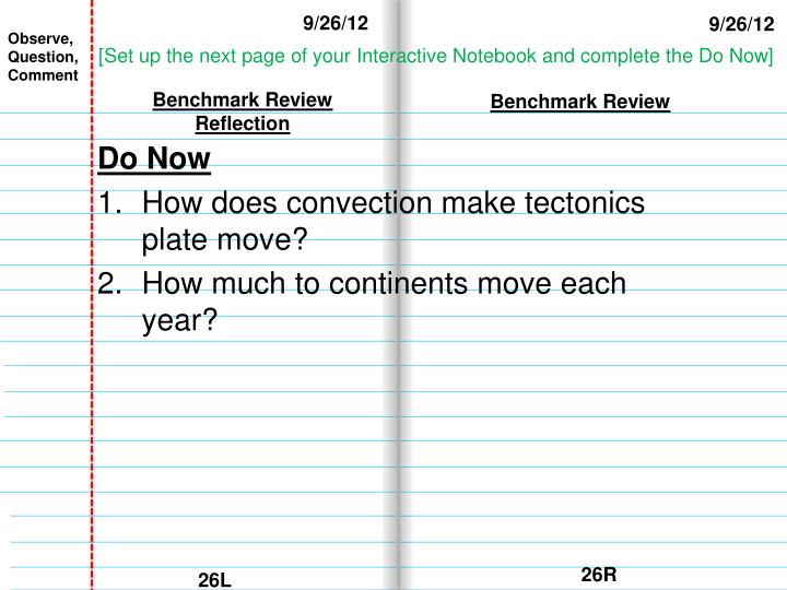 Benchmark review reflection
