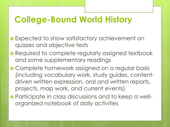 College-Bound World History