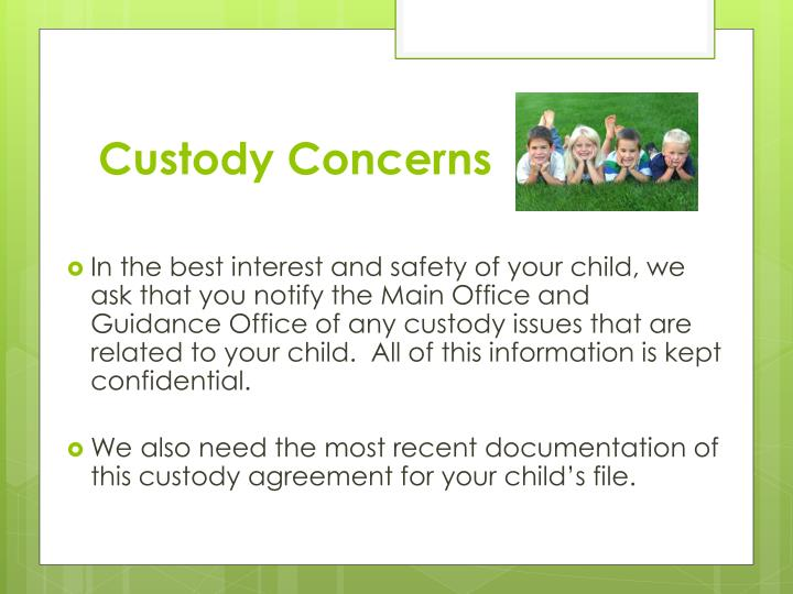 Custody Concerns
