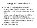 energy and general laws