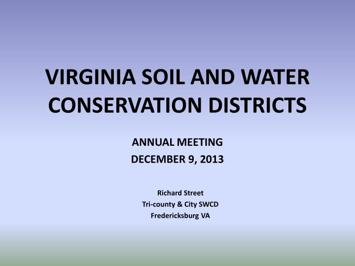 virginia soil and water conservation districts n.