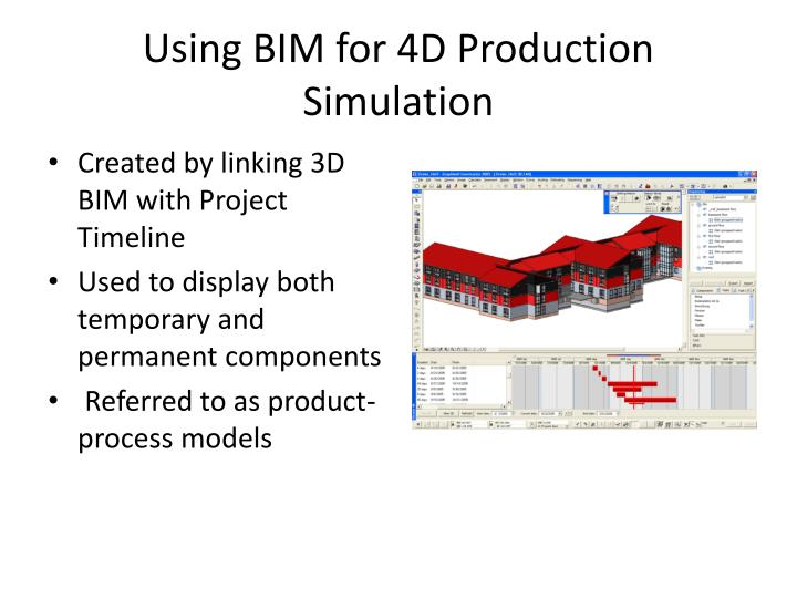 Using BIM for 4D Production Simulation