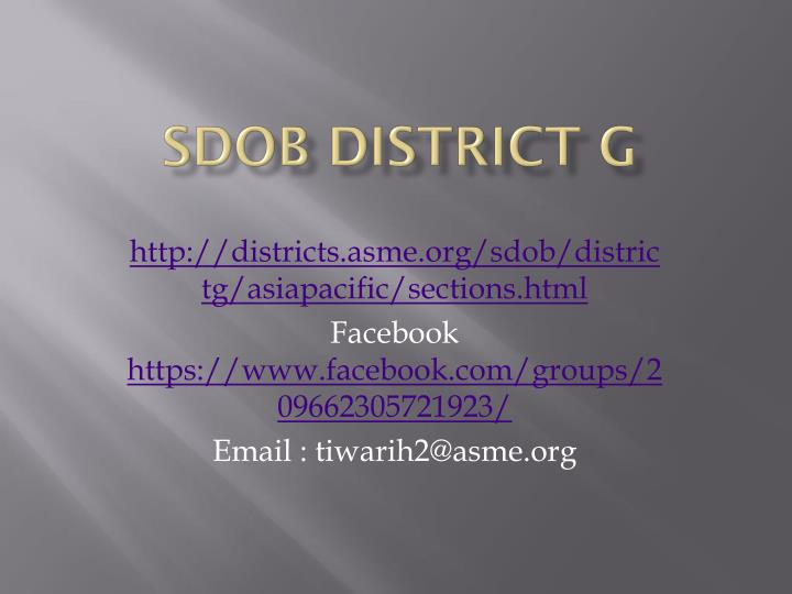sdob district g n.