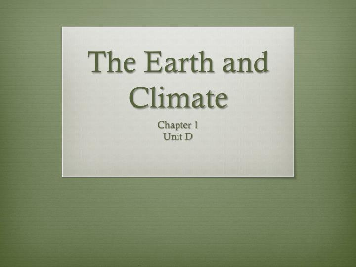 the earth and climate n.