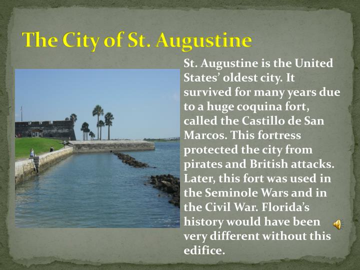 The City of St. Augustine
