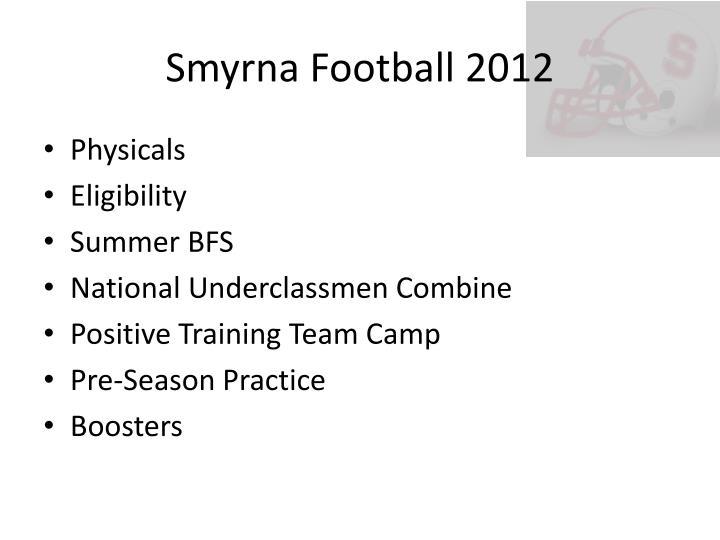 Smyrna Football 2012