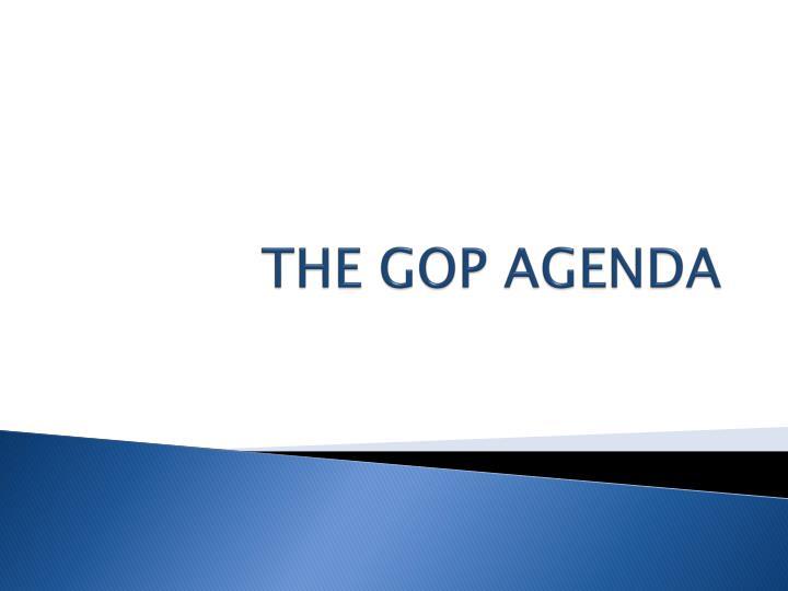 THE GOP AGENDA