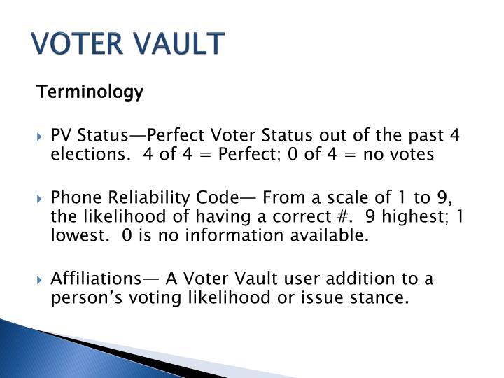 VOTER VAULT