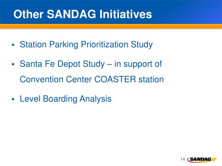 Other SANDAG Initiatives