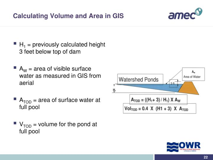 Calculating Volume and Area in GIS