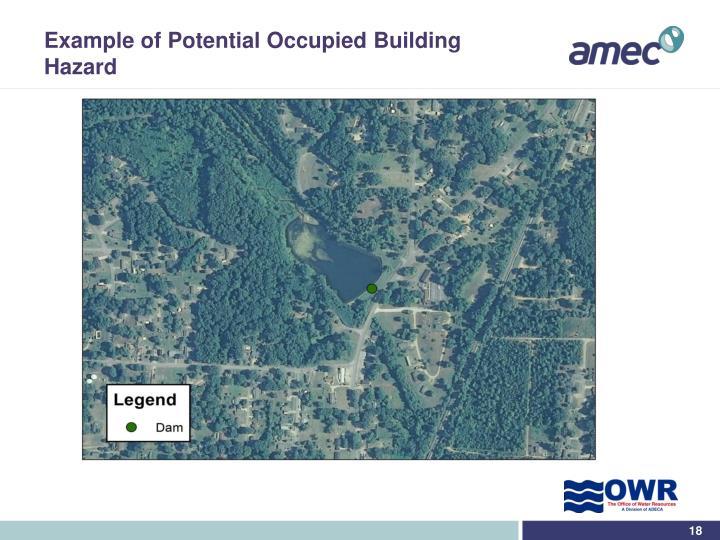 Example of Potential Occupied Building Hazard