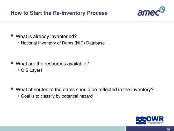 How to Start the Re-Inventory Process
