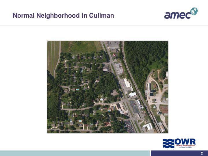 Normal neighborhood in cullman