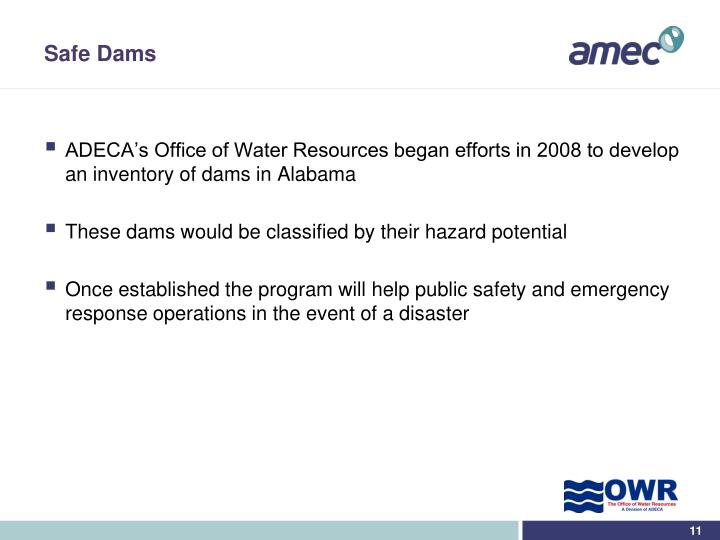 Safe Dams