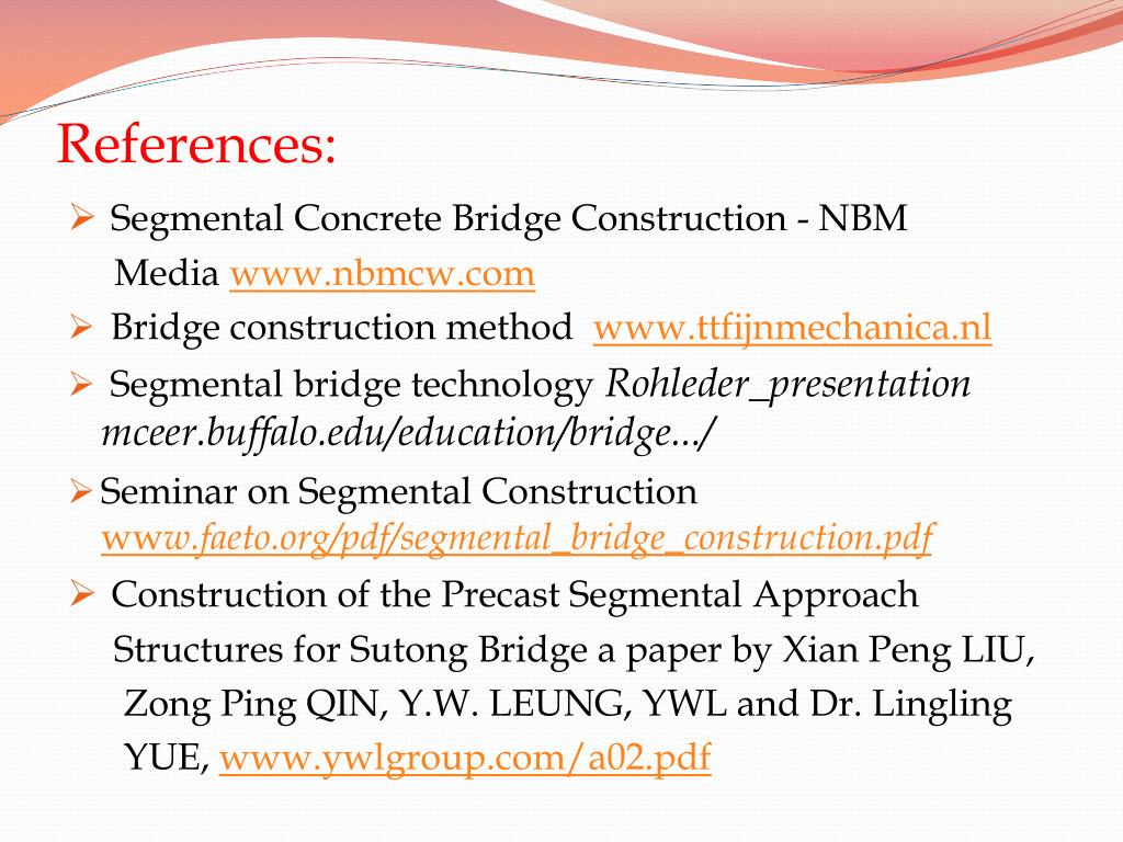 PPT - SEMINAR ON SEGMENTAL CONSTRUCTION OF BRIDGE PowerPoint