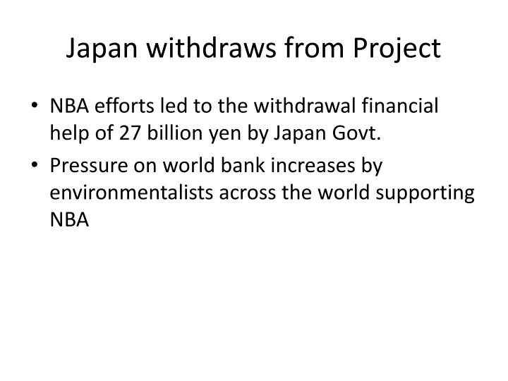 Japan withdraws from Project
