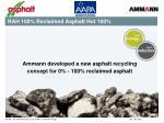 rah 100 reclaimed asphalt hot 100