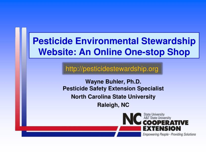 pesticide environmental stewardship website an online one stop shop