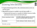growing tele density