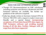 need for emf estimator update