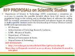 rfp proposals on scientific studies