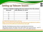 setting up telecom towers