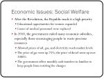 economic issues social welfare
