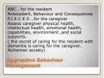 aggressive behaviour management