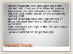 patient traits