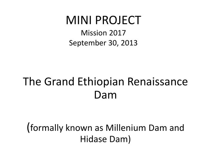 mini project mission 2017 september 30 2013 n.