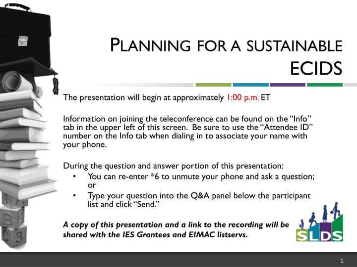 planning for a sustainable ecids n.