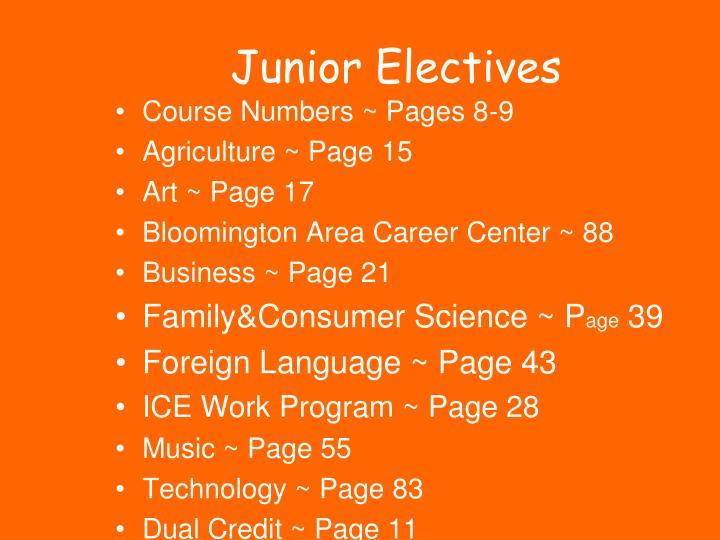 Junior Electives