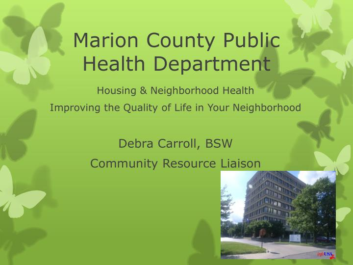 marion county public health department n.