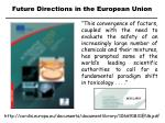 future directions in the european union
