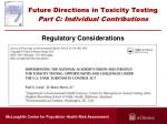 future directions in toxicity testing part c individual contributions5