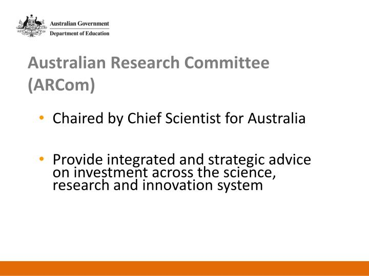 Australian Research Committee